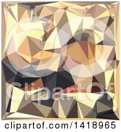 Clipart Of A Low Poly Abstract Geometric Background In Bisque Gray Royalty Free Vector Illustration