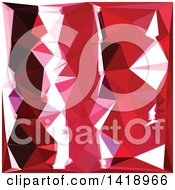 Clipart Of A Low Poly Abstract Geometric Background In Barn Red Royalty Free Vector Illustration