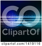 Clipart Of A Blue Abstract Background With Lights Royalty Free Vector Illustration by KJ Pargeter