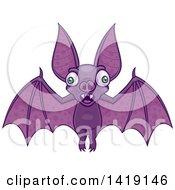 Cartoon Wacky Flying Vampire Bat