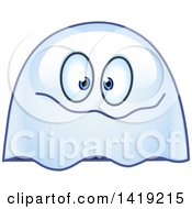 Goofy Ghost Emoticon