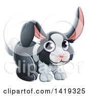Clipart Of A Cartoon Adorable Dutch Bunny Rabbit Royalty Free Vector Illustration