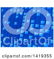 Blue Tile Mosaic Background