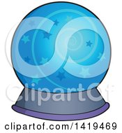 Clipart Of A Magic Crystal Ball Royalty Free Vector Illustration by visekart