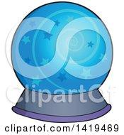 Clipart Of A Magic Crystal Ball Royalty Free Vector Illustration
