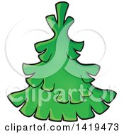 Clipart Of A Green Tree Royalty Free Vector Illustration by visekart