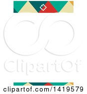 Clipart Of A Modern Geometric Letterhead Design Royalty Free Vector Illustration