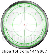 Clipart Of A Round Rifle Or Sniper Scope Royalty Free Vector Illustration