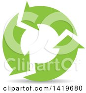 Clipart Of Green Recycle Arrows Royalty Free Vector Illustration