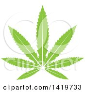 Clipart Of A Green Marijuana Pot Leaf Royalty Free Vector Illustration