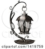 Clipart Of A Lantern Royalty Free Vector Illustration by merlinul
