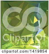 Clipart Of A Low Poly Abstract Geometric Background In Chartreuse Green Royalty Free Vector Illustration