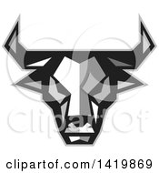 Clipart Of A Low Polygon Style Bull Head Royalty Free Vector Illustration