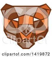Clipart Of A Low Polygon Style Bear Head Royalty Free Vector Illustration