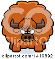 Clipart Of A Cartoon Mad Chubby Yak Royalty Free Vector Illustration by Cory Thoman