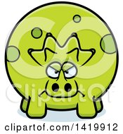 Cartoon Mad Chubby Triceratops Dinosaur