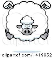 Cartoon Chubby Sheep Flying
