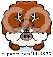 Cartoon Mad Chubby Reindeer