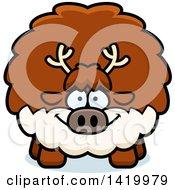 Cartoon Chubby Reindeer
