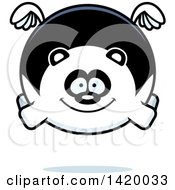 Clipart Of A Cartoon Chubby Panda Flying Royalty Free Vector Illustration by Cory Thoman