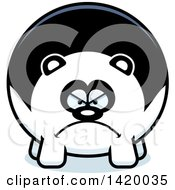 Clipart Of A Cartoon Mad Chubby Panda Royalty Free Vector Illustration