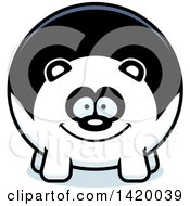 Clipart Of A Cartoon Chubby Panda Royalty Free Vector Illustration