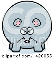 Clipart Of A Cartoon Mad Chubby Mouse Royalty Free Vector Illustration
