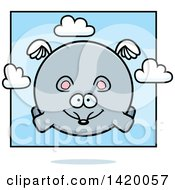 Clipart Of A Cartoon Chubby Mouse Flying Royalty Free Vector Illustration