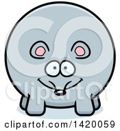 Clipart Of A Cartoon Chubby Mouse Royalty Free Vector Illustration