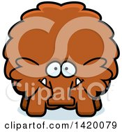 Clipart Of A Cartoon Chubby Woolly Mammoth Royalty Free Vector Illustration