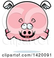 Clipart Of A Cartoon Chubby Crazy Hippo Flying Royalty Free Vector Illustration by Cory Thoman
