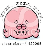 Clipart Of A Cartoon Chubby Hippo Sleeping Royalty Free Vector Illustration by Cory Thoman