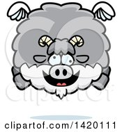 Cartoon Chubby Crazy Goat Flying
