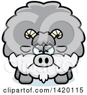 Clipart Of A Cartoon Mad Chubby Goat Royalty Free Vector Illustration by Cory Thoman