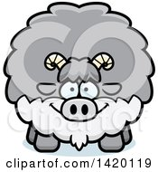 Clipart Of A Cartoon Chubby Goat Royalty Free Vector Illustration