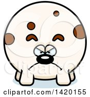 Clipart Of A Cartoon Mad Chubby Dog Royalty Free Vector Illustration
