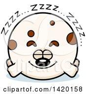 Clipart Of A Cartoon Chubby Dog Sleeping Royalty Free Vector Illustration