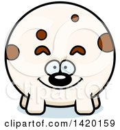 Clipart Of A Cartoon Chubby Dog Royalty Free Vector Illustration