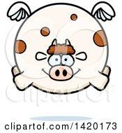 Cartoon Chubby Cow Flying