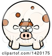 Clipart Of A Cartoon Mad Chubby Cow Royalty Free Vector Illustration by Cory Thoman
