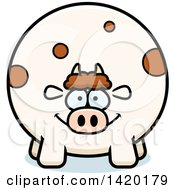 Clipart Of A Cartoon Chubby Cow Royalty Free Vector Illustration