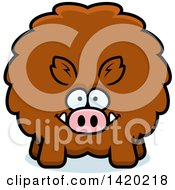 Clipart Of A Cartoon Chubby Boar Royalty Free Vector Illustration