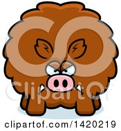 Clipart Of A Cartoon Mad Chubby Boar Royalty Free Vector Illustration by Cory Thoman