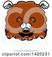 Clipart Of A Cartoon Chubby Crazy Bear Flying Royalty Free Vector Illustration