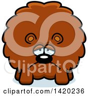 Clipart Of A Cartoon Depressed Chubby Bear Royalty Free Vector Illustration