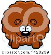 Clipart Of A Cartoon Chubby Bear Royalty Free Vector Illustration
