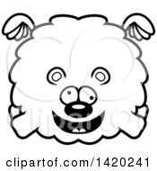 Clipart Of A Cartoon Black And White Lineart Chubby Crazy Bear Flying Royalty Free Vector Illustration