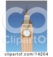 The Big Ben Clock Tower At The Palace Of Westminster Clipart Illustration