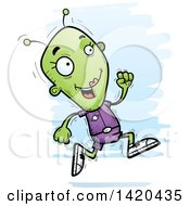 Clipart Of A Cartoon Doodled Female Alien Royalty Free Vector Illustration by Cory Thoman