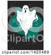 Clipart Of A Spooky Ghost Royalty Free Vector Illustration by Vector Tradition SM
